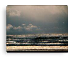 Rain Storm Over The Ocean Canvas Print
