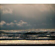 Rain Storm Over The Ocean Photographic Print