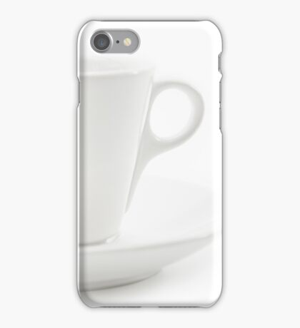 white cup iPhone Case/Skin