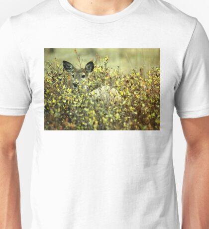 Deer in brush Unisex T-Shirt