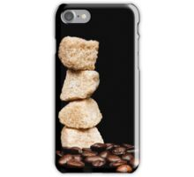 cane sugar and coffee beans iPhone Case/Skin