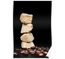cane sugar and coffee beans Poster