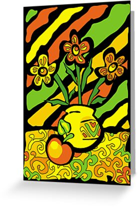 vivid vase with flowers by VioDeSign