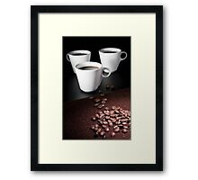 three coffee cups Framed Print
