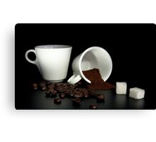 coffee and sugar Canvas Print