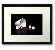 coffee and sugar Framed Print