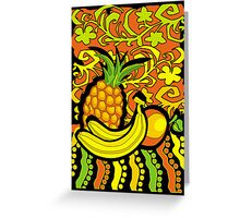 vivid tropical still life Greeting Card