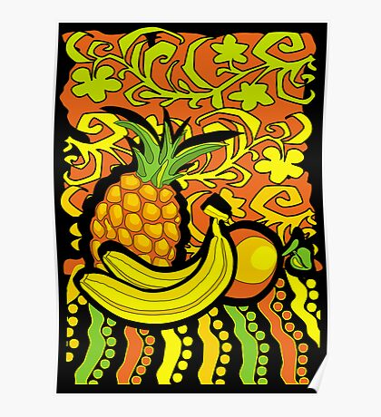 vivid tropical still life Poster