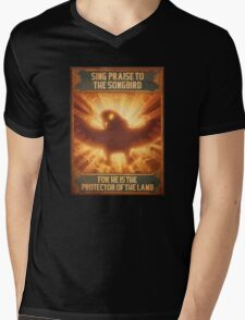 BioShock Infinite – Sing Praise to the Songbird Poster Mens V-Neck T-Shirt