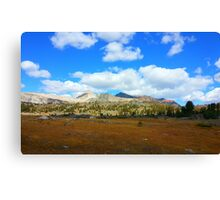 Yosemite: Valley Mountains Canvas Print