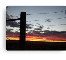 Gate at Sunset Canvas Print
