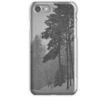 Snowy Winter Day in pine trees forest iPhone Case/Skin