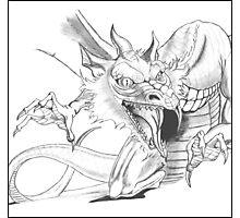 Dragon [Sketch] Photographic Print
