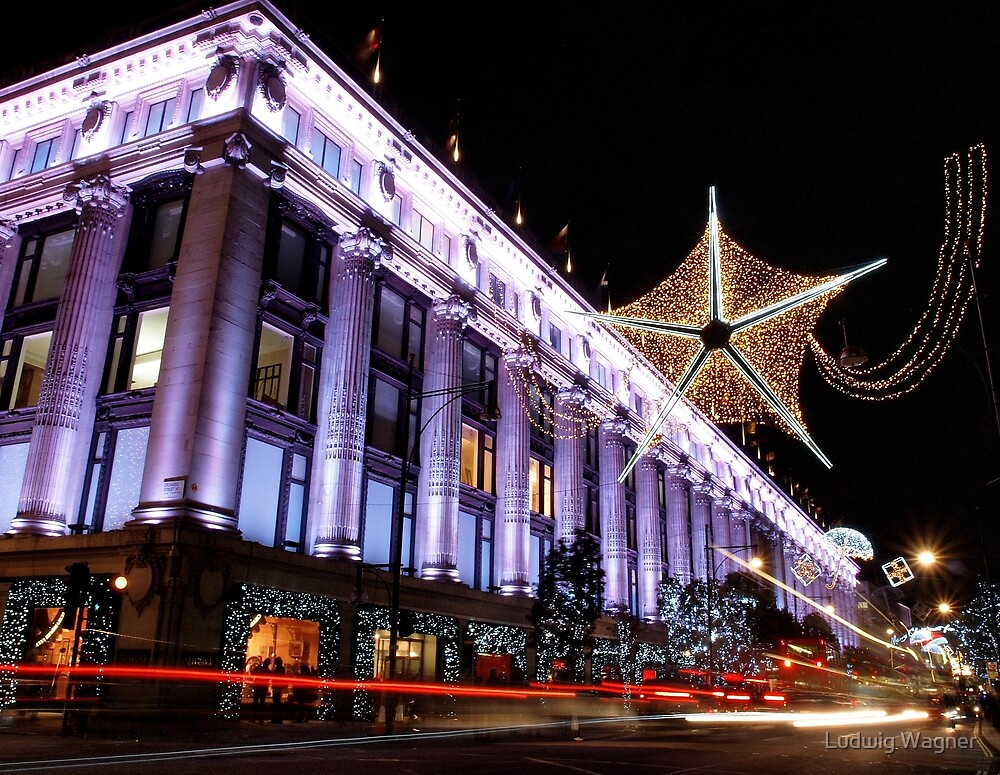 Christmas at Selfridges by Ludwig Wagner