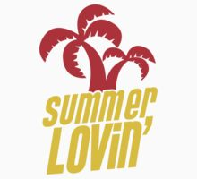 Summer lovin with tropical palms Kids Tee