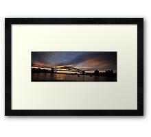 Shadows And Light , Sydney Harbour, Australia Framed Print