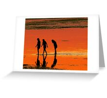 Evening walk Greeting Card