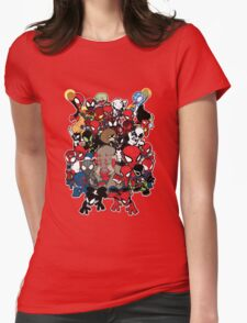 Spidey across time and space Womens Fitted T-Shirt