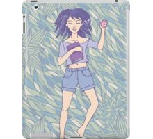 Young girl sleeping on the grass iPad Case/Skin