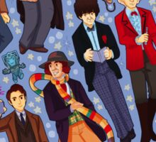 11 time lords inside 1 tardis Sticker