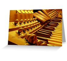 Organ Pedals Greeting Card