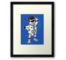 retro robot -the groover t-shirt Framed Print