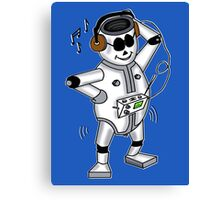 retro robot -the groover t-shirt Canvas Print