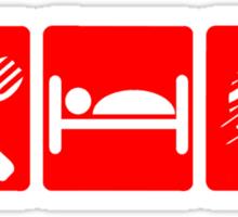 EAT SLEEP KNIT SIGN Sticker