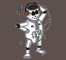 retro robot -the groover t-shirt Kids Clothes