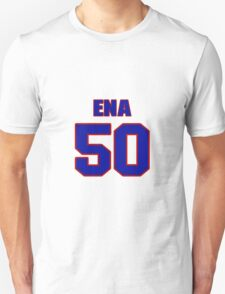 National football player Justin Ena jersey 50 T-Shirt