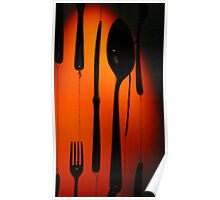 Attic Barcelona Cutlery Display Poster