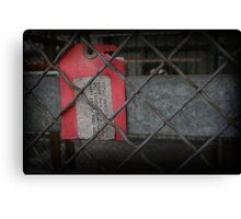 tag, you're it! Canvas Print