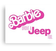VINTAGE BARBIE JEEP Canvas Print
