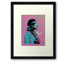 Jimi Hendrix - Psychedelic Sixties by Pepe Psyche Framed Print