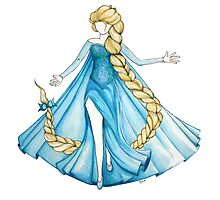 Elsa in the air (Frozen) Photographic Print
