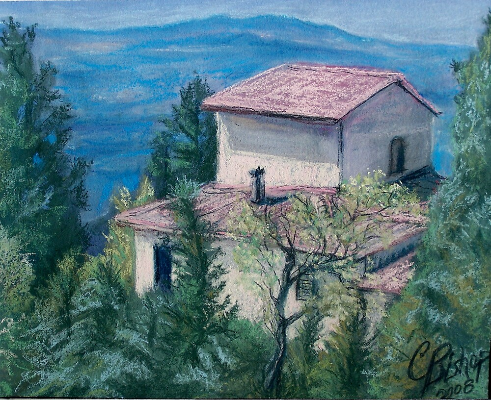 View from a Tuscan Villa by Carolyn Bishop