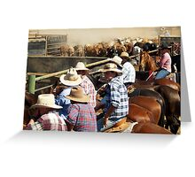 Bringing in the Campdraft cattle - Kiana Station NT 2007 Greeting Card