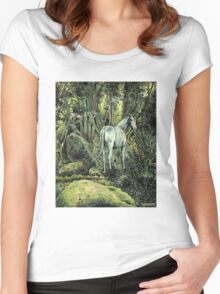 Unicorn & Pixies Women's Fitted Scoop T-Shirt