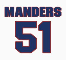National football player Dave Manders jersey 51 by imsport