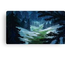 Fir and Snow Canvas Print
