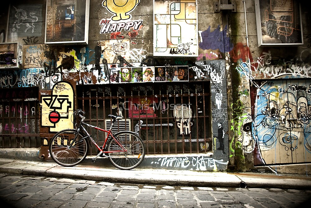 Hosier Lane Melbourne by Chris Muscat