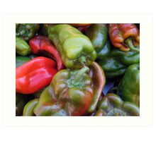 CHILI PEPPER RED GREEN  Art Print