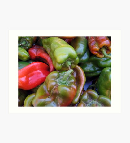 CHILI PEPPER RED GREEN  Art Print