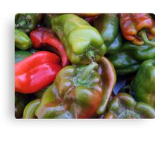 CHILI PEPPER RED GREEN  Canvas Print
