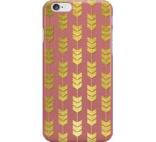 Pink and Gold Valentines Arrow Pattern iPhone Case/Skin