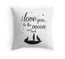 I love you to the moon and back. Throw Pillow