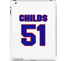 National football player Ron Childs jersey 51 iPad Case/Skin
