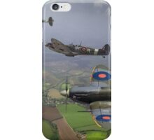 303 Squadron Spitfire sweep (cropped version) iPhone Case/Skin