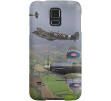 303 Squadron Spitfire sweep (cropped version) Samsung Galaxy Case/Skin