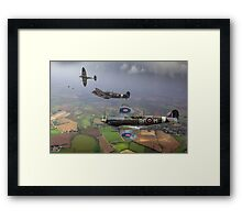 303 Squadron Spitfire sweep (cropped version) Framed Print
